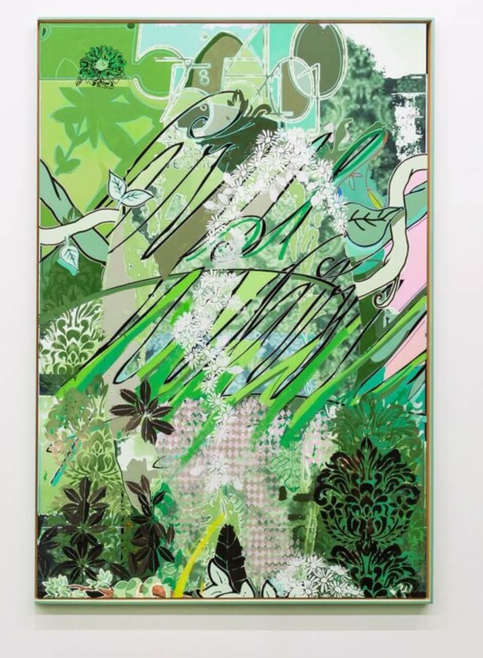 Galerie Benjamin Eck München Acryl und archival ink auf Leinwand