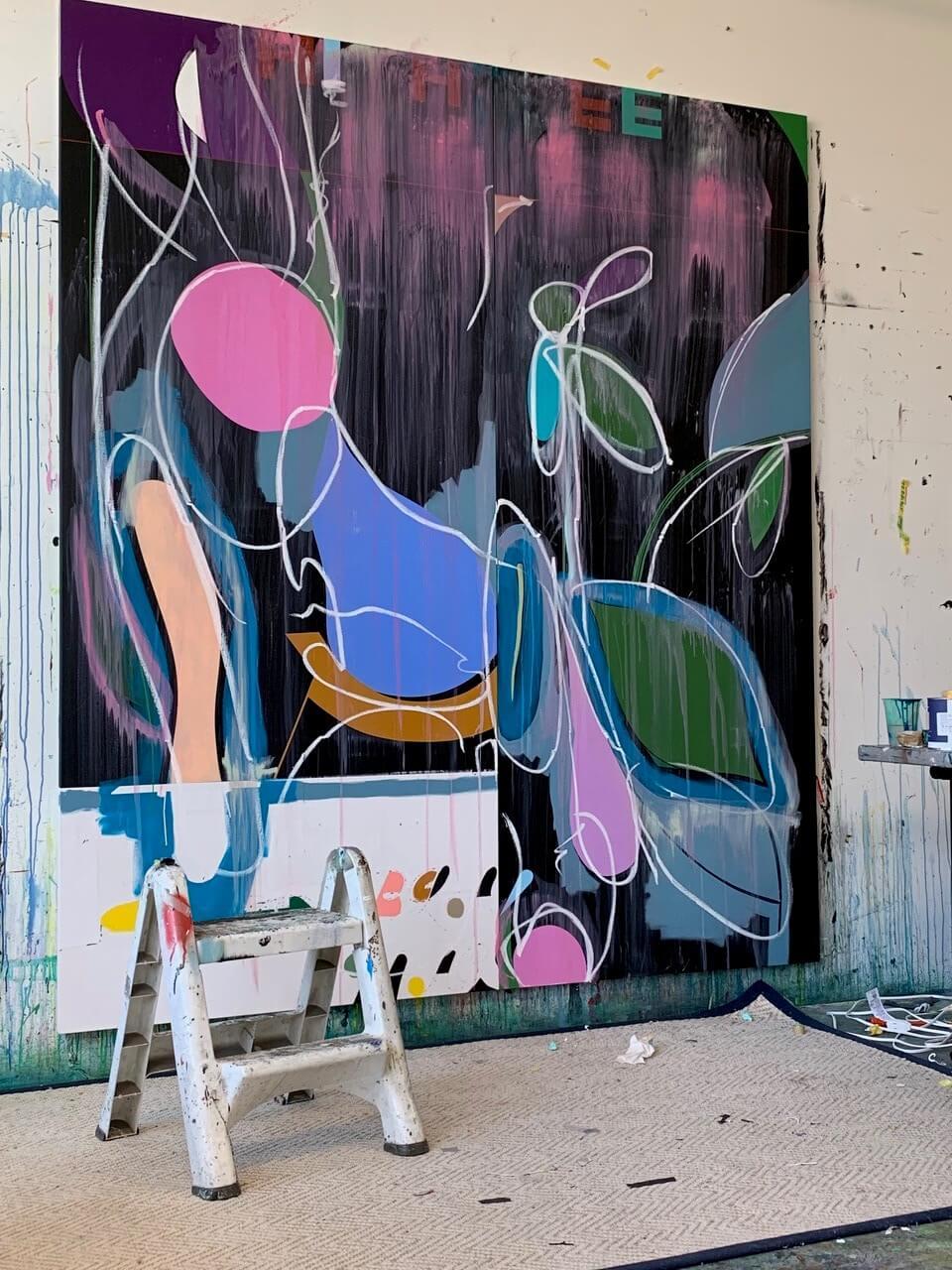 Galerie Benjamin Eck München Acryl, Ölstick auf Leinwand