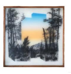 Galerie Benjamin Eck München graphite, inkjet, tape, acrylic, mylar, resin