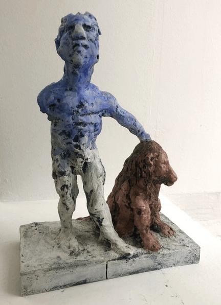 Galerie Benjamin Eck München Bronze , handpainted