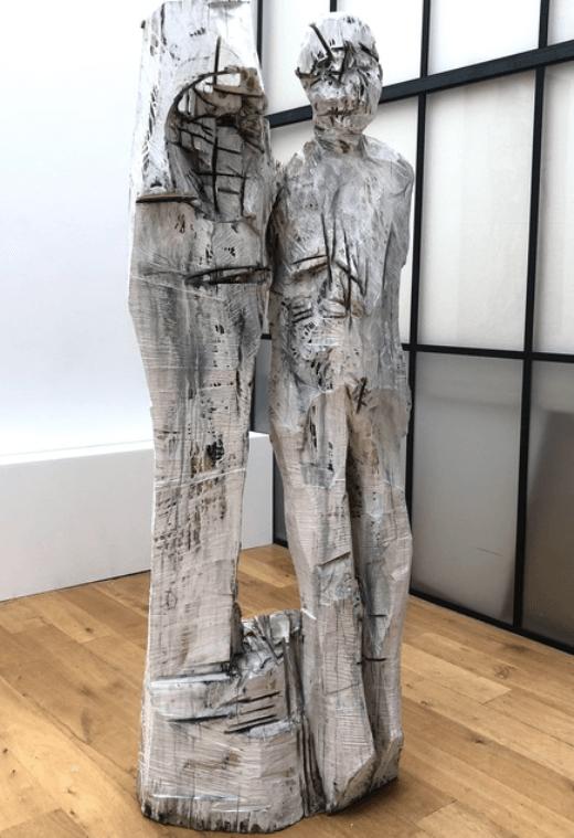 Galerie Benjamin Eck München Poplar wood, whitened
