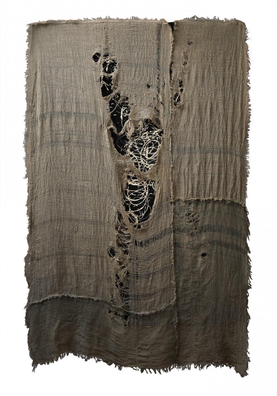 Galerie Benjamin Eck München LINEN, LATEX, WHITEGOLD- LEAF (12 KARAT), FELT