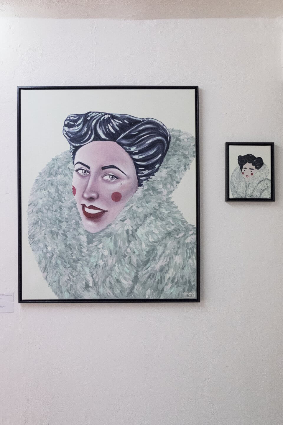 Galerie Benjamin Eck München   Acryl on canvas