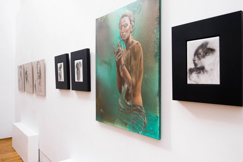 Galerie Benjamin Eck München acrylic, oil, canvas
