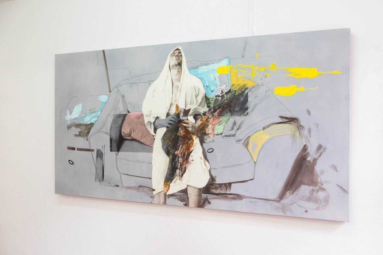 Galerie Benjamin Eck München mixed media on wood