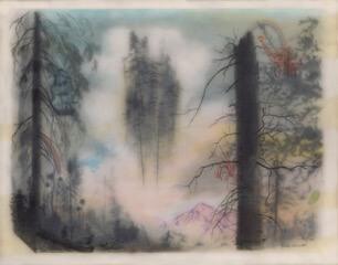 Galerie Benjamin Eck München graphite, colored pencil, ink, tape, mylar, resin, panel