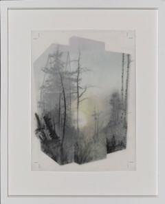 Galerie Benjamin Eck München graphite, ink, tape, mylar, thread