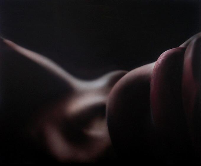 Galerie Benjamin Eck München Airbush auf Mdf-Board