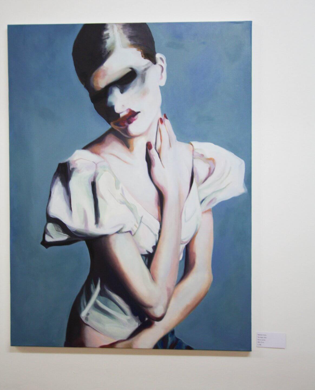 Galerie Benjamin Eck München Nathalie Pirotte, The Angel, 2016, Oils on canvas, 100 x 75 cm