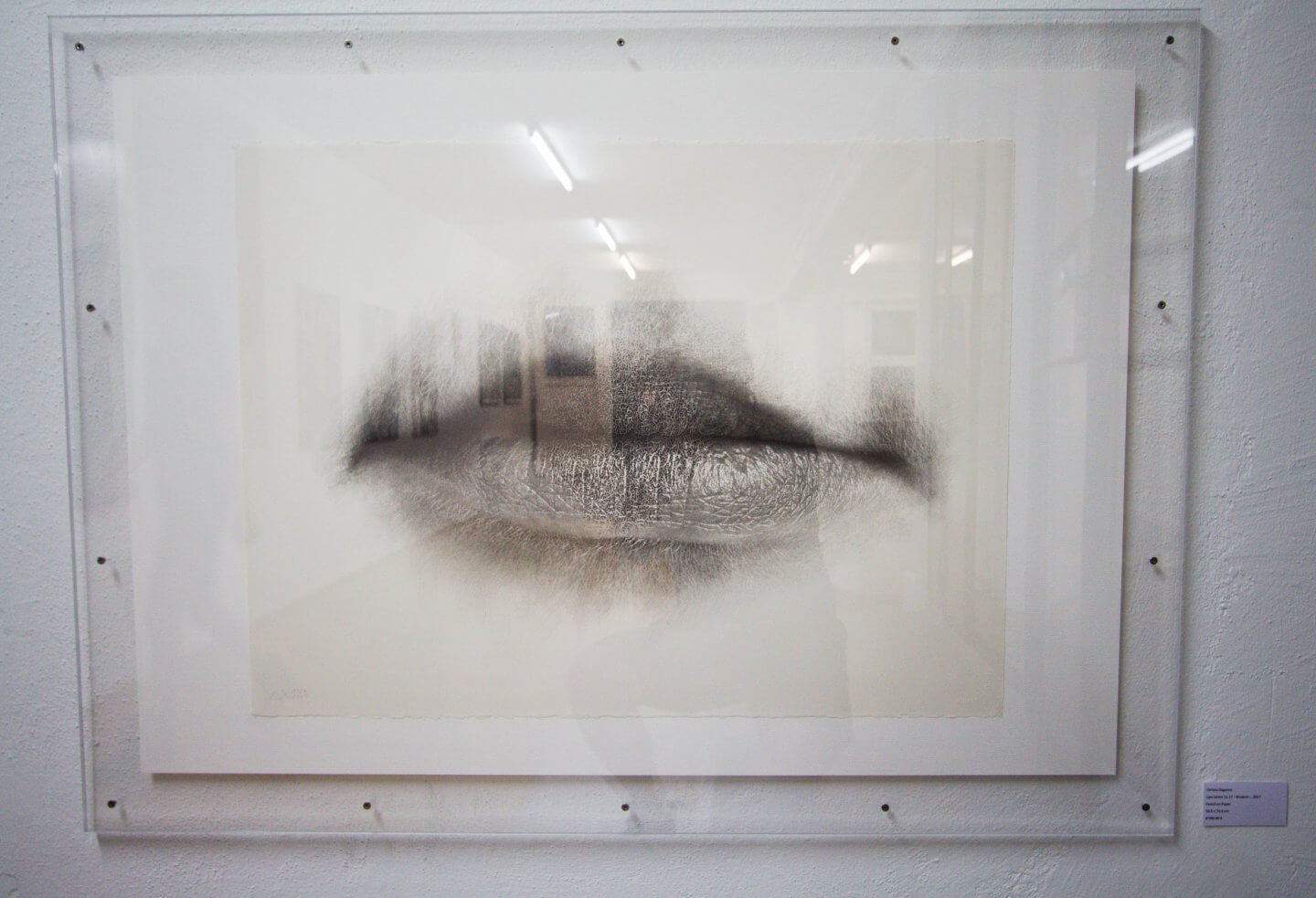 Galerie Benjamin Eck München Christo Dagorov, Lips Series 11.17 - Wisdom -, 2017 Pencil on Paper,56.6 x 76.6 cm