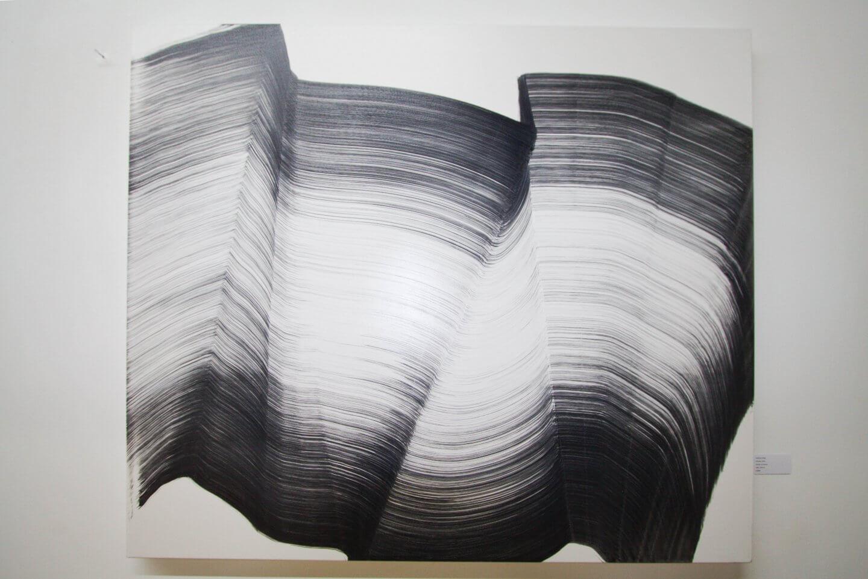 Galerie Benjamin Eck München Andreas Jungk, 1Stroke, 2016, Acrylic on canvas, 140 x 120 cm