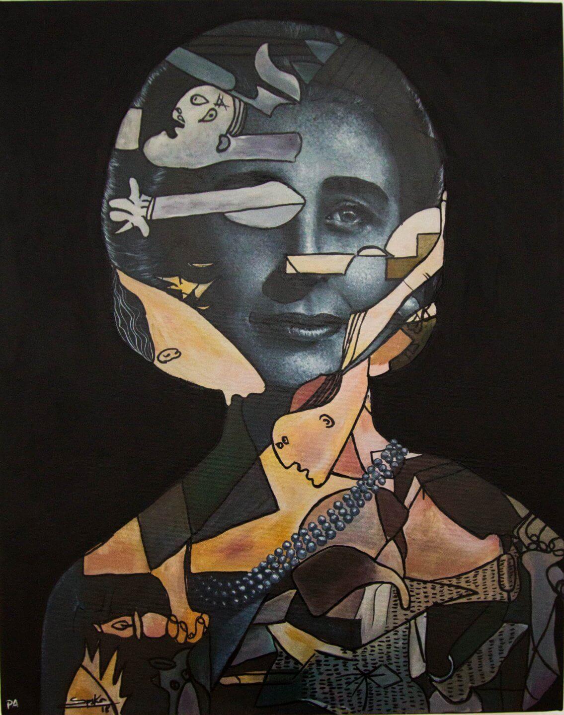 Galerie Benjamin Eck München Regina Zabaleta, Carmelita, 2018, P/A Acrylic and photography/canvas, 60 x 50 cm