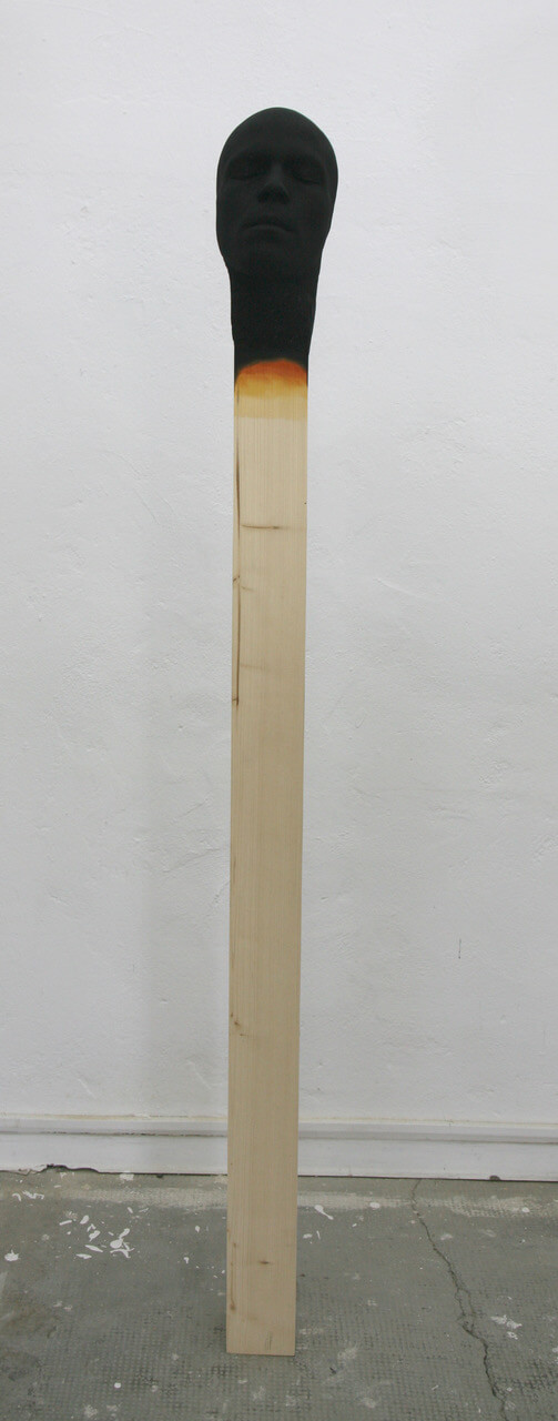 Galerie Benjamin Eck München Holz, Poyurethane, Farbe befestigt auf Matellplatte
