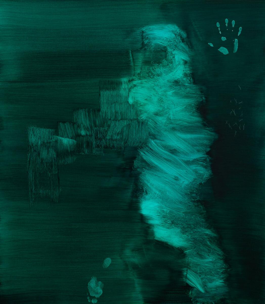 Galerie Benjamin Eck München Tusche auf Canvas