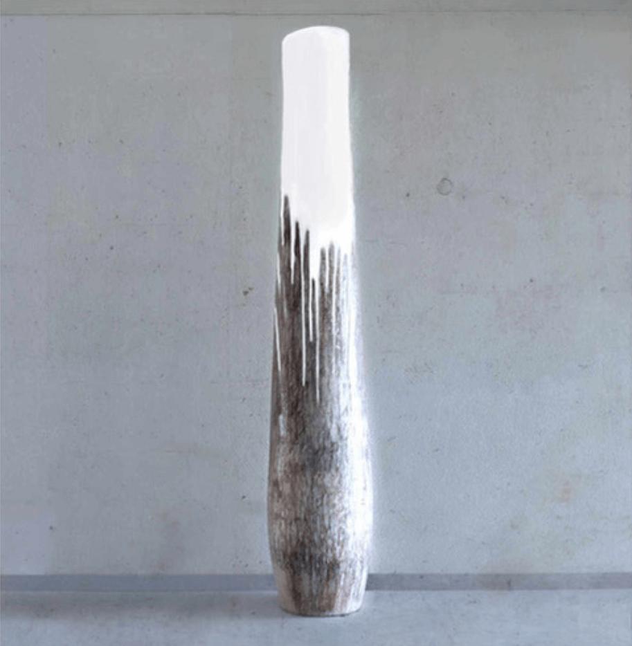Galerie Benjamin Eck München Wood sculpture, rubber, hollowed out palm stem
