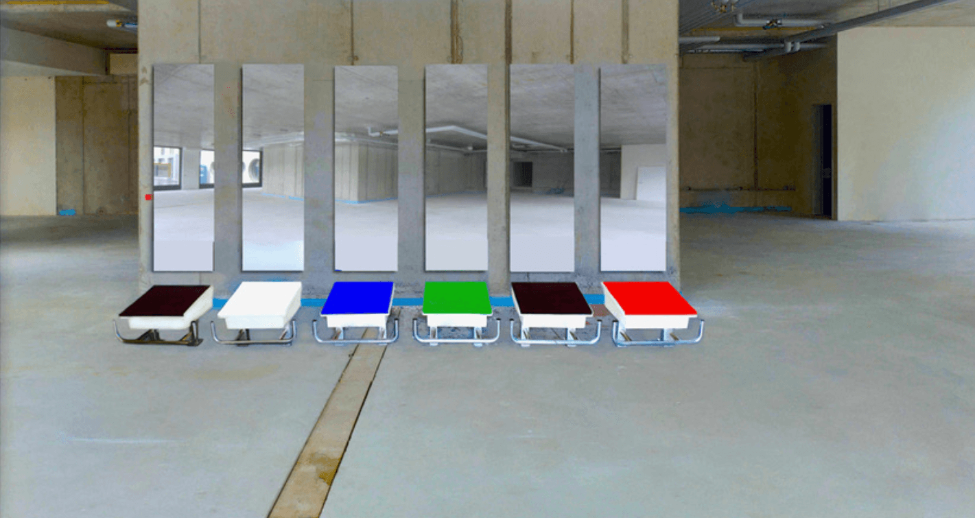 Galerie Benjamin Eck München 6 Diving start blocks, mirrors