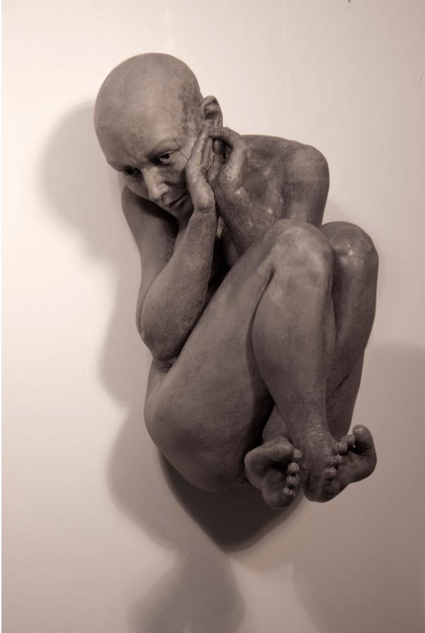Galerie Benjamin Eck München Carrara Marmor, Graphit und Harz