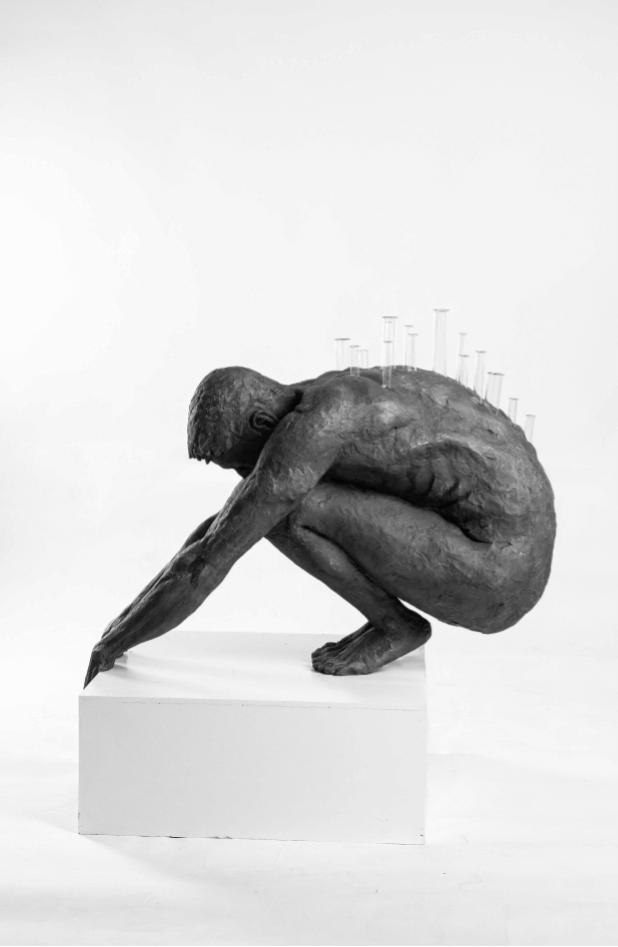 Galerie Benjamin Eck München Harz, Jesmonite, Glasröhren