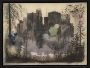 Galerie Benjamin Eck München graphite, colored pencil, tape, mylar, resin, panel