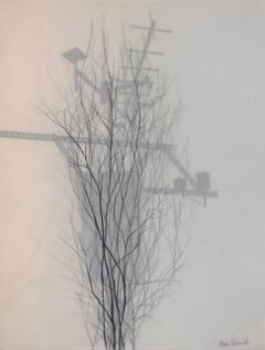 Galerie Benjamin Eck München graphite, ink, semitransparency