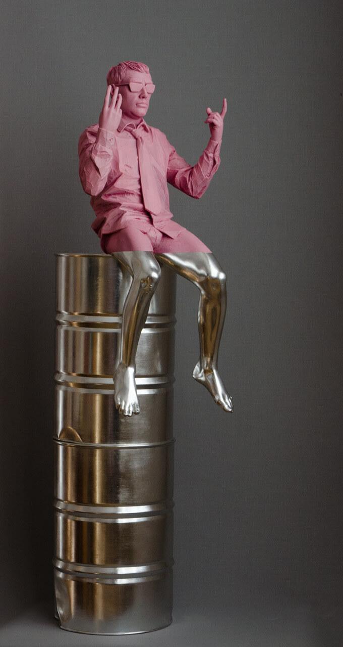 Galerie Benjamin Eck München Linde, Acryl, Aluminium