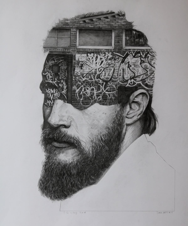 Galerie Benjamin Eck München Jamie Linley, Dark Arts #2, 2018 Pencil on Paper