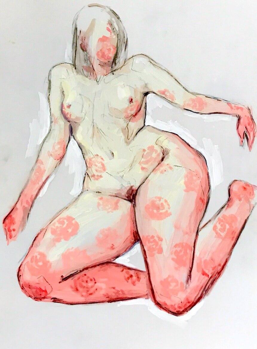 Galerie Benjamin Eck München Acryl auf Yupo-Papier