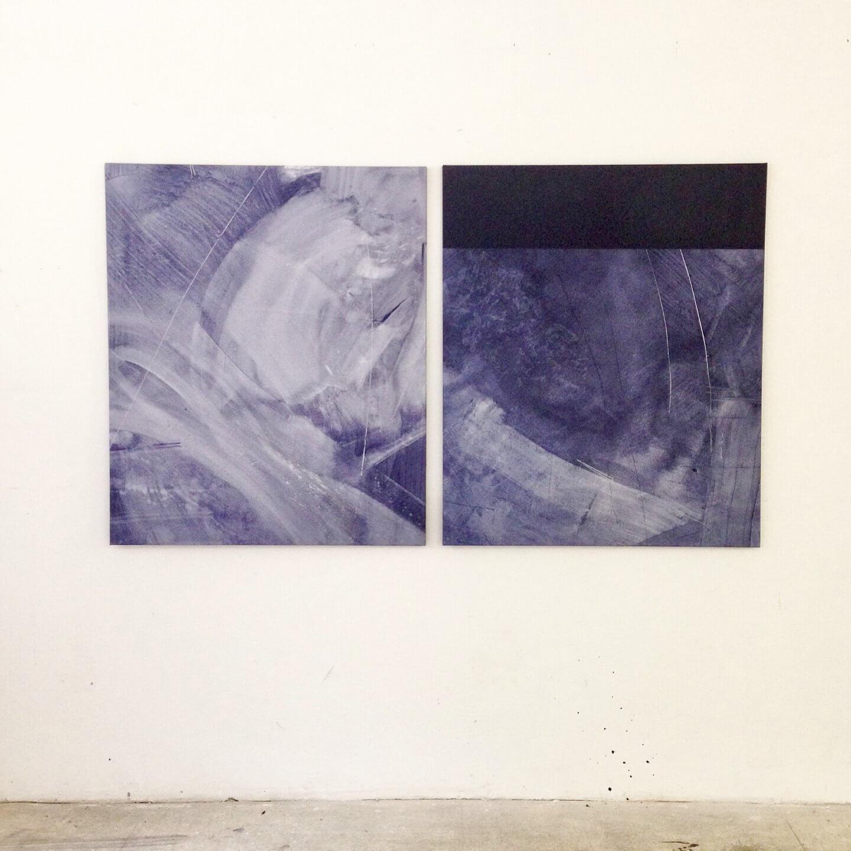 Galerie Benjamin Eck München Mixed media on canvas