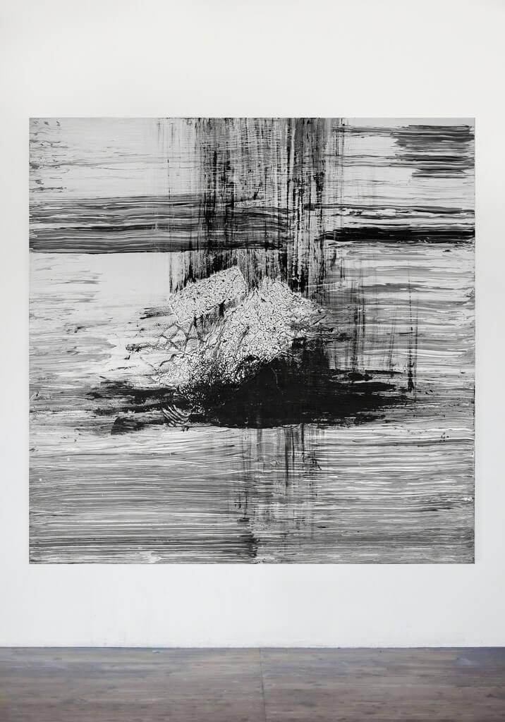 Galerie Benjamin Eck München Acrylic, thread, pencil on canvas
