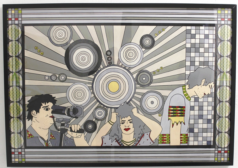 Galerie Benjamin Eck München KERSTIN HEINZE-GROHMANN 'Flut des Wissens', acryl on paper, 100cm x 70cm, 2017