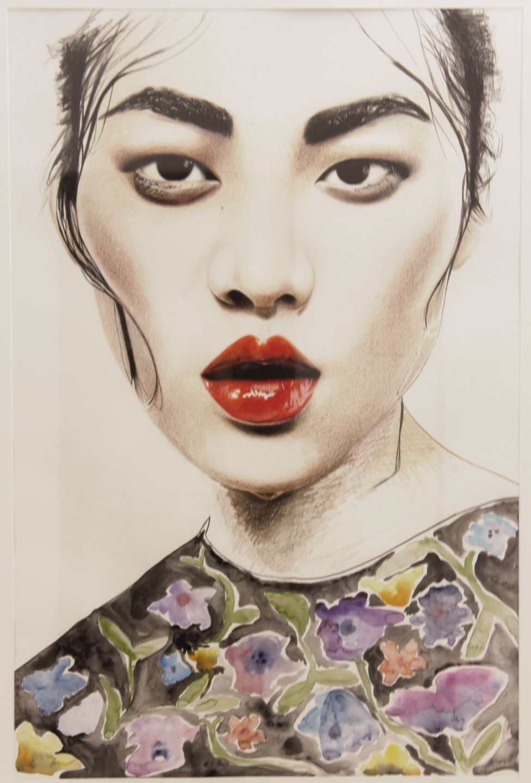 Galerie Benjamin Eck München ANNA-LENA KRIBBELER 'Arroser les fleurs', watercolour on paper, 84cm x 60cm, 2016