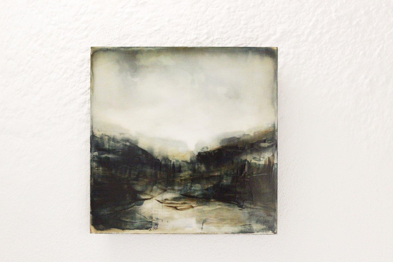 Galerie Benjamin Eck München JOACHIM VAN DER VLUGT 'Midnight shout', oil on canvas, 40cm x 40cm, 2017