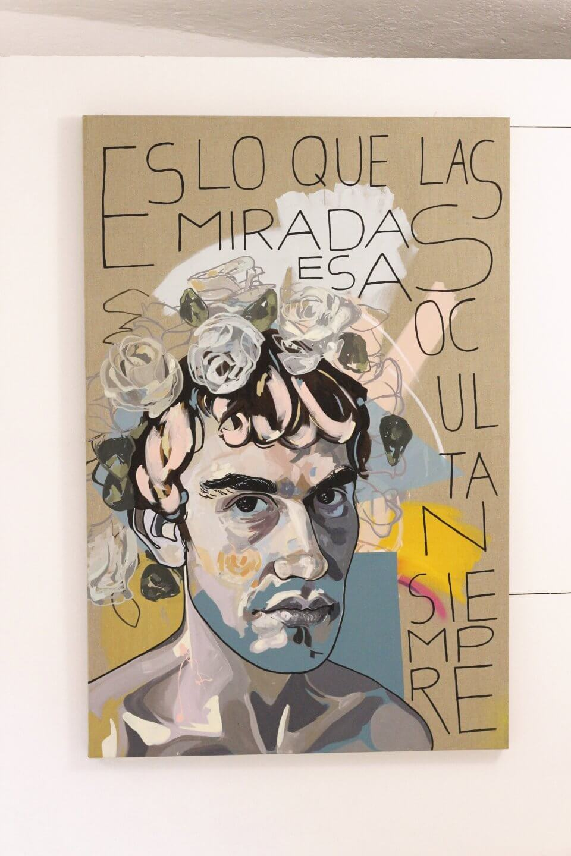 Galerie Benjamin Eck München MANUELA ILLERA 'Chico mirando', acrylic on linen, 180cm x 120cm, 2017