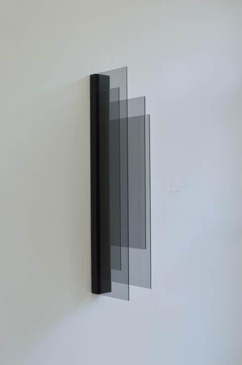 Galerie Benjamin Eck München Glas auf Sperrholz