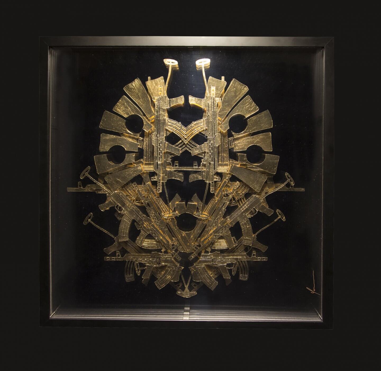 Galerie Benjamin Eck München gold leaf on plexiglass
